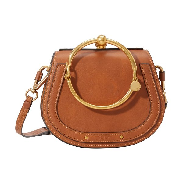 Chloe Small Nile bracelet bag in nr247 caramel