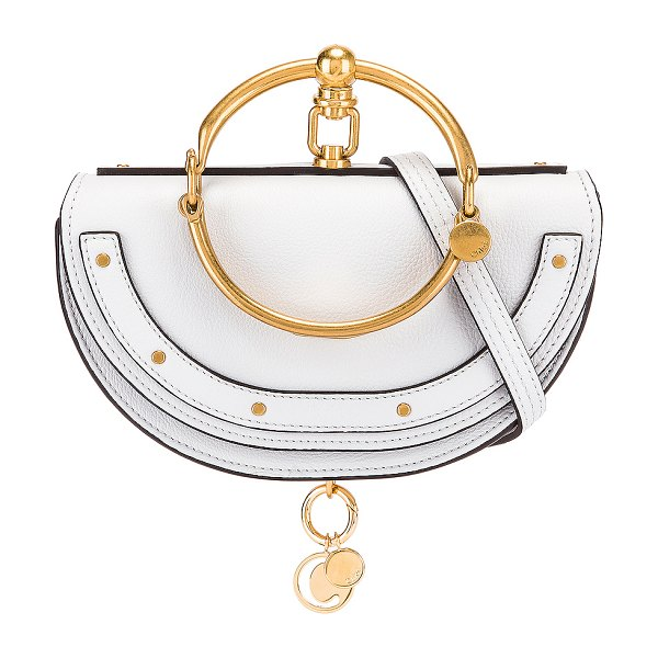 Chloe small nile leather minaudiere in light cloud