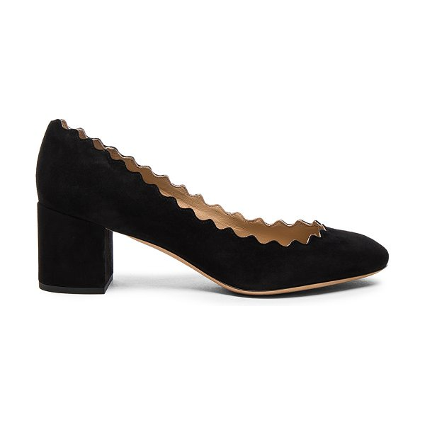 CHLOE Lauren Suede Pumps - Suede upper with leather sole.  Made in Italy.  Approx...