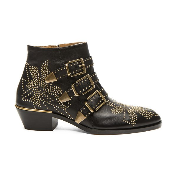 CHLOE Susanna Leather Studded Booties - Leather upper and sole.  Made in Italy.  Approx 40mm/ 1.5...