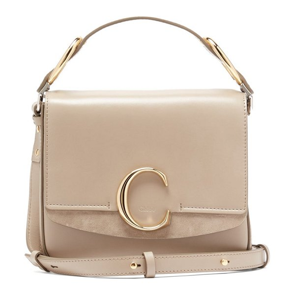 Chloe the c small leather shoulder bag in grey