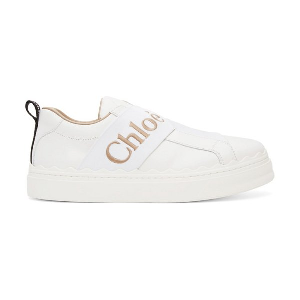 Chloe white lauren sneakers in 101 white