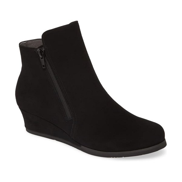 Chocolat Blu kadee wedge bootie in black suede
