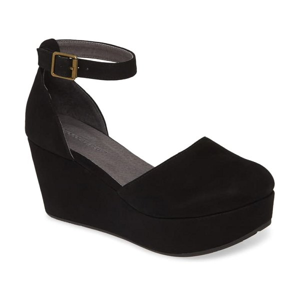Chocolat Blu wanetta platform pump in black suede