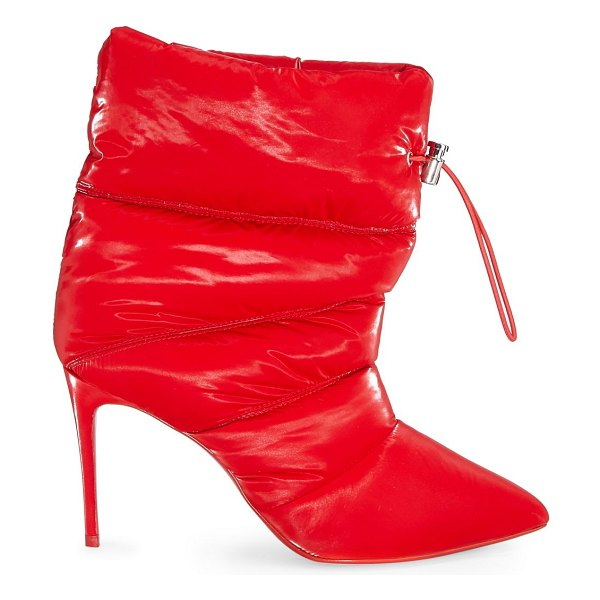 Christian Louboutin astro pointue 85 stiletto gloss booties in loubi red