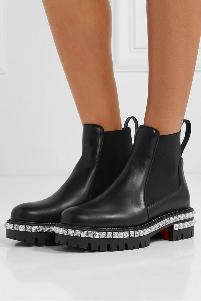 Christian Louboutin by the river 50mm studded leather chelsea boots in black