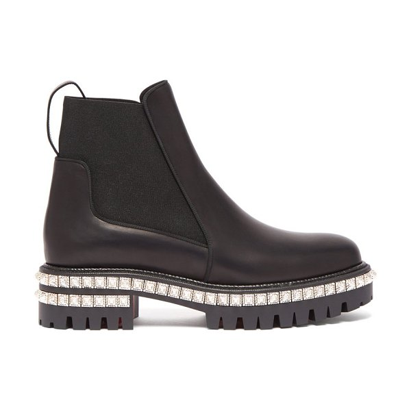 Christian Louboutin by the river studded leather chelsea boots in black