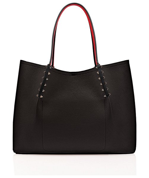 Christian Louboutin Cabarock Small Spike Red Sole Tote Bag in bk01 black