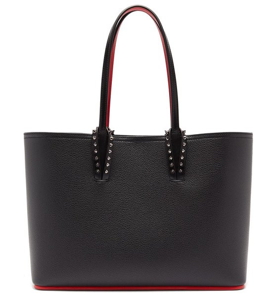 Christian Louboutin cabata small spike-stud leather tote bag in black