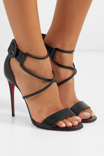 ad2a7b2bf210 Christian Louboutin Choca 100 Leather Sandals in Black