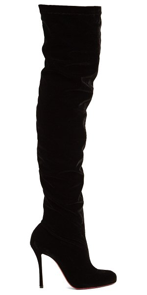 453b0a09a0b Christian Louboutin Classe 125 Over The Knee Velvet Boots in black - Christian  Louboutin - Over