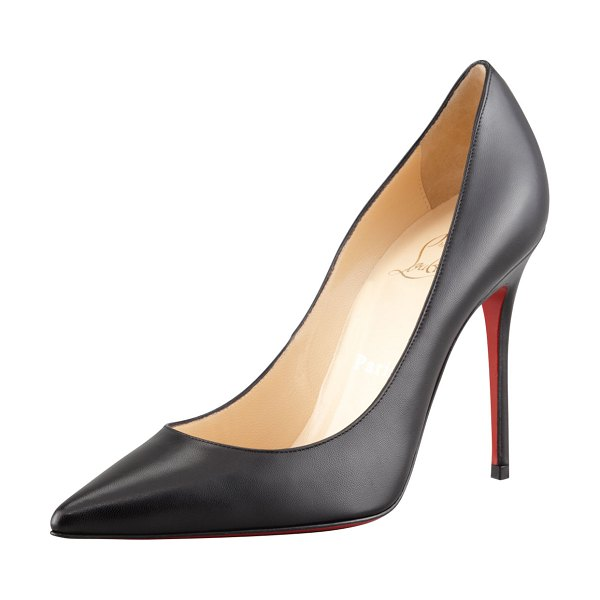 Christian Louboutin Decollette Red Sole Pumps in black