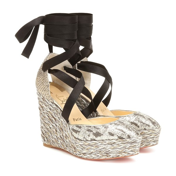 Christian Louboutin dona susan 120 espadrille wedges in multicoloured