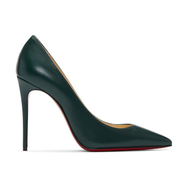Christian Louboutin green nappa kate heels in e287 vosges