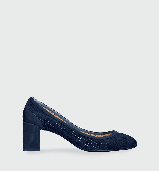 Christian Louboutin Incastrana Suede Red Sole Pumps in navy