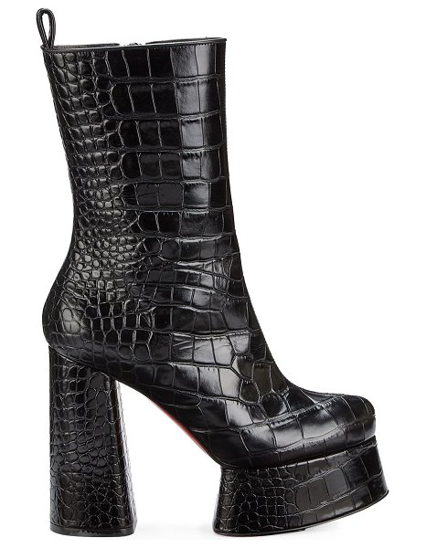 Christian Louboutin izamayeah 130 platform leather booties in black