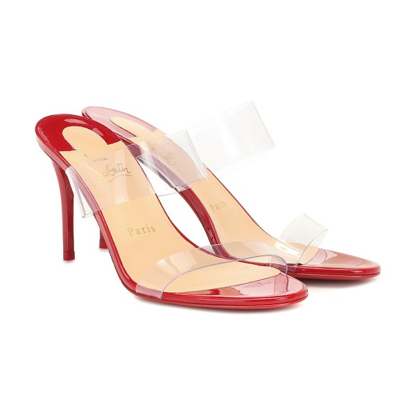 Christian Louboutin just nothing 85 pvc sandals in red