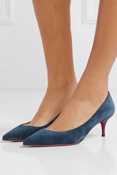 Christian Louboutin kate 55 suede pumps in navy