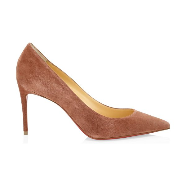 Christian Louboutin kate 85 suede pumps in ecorce