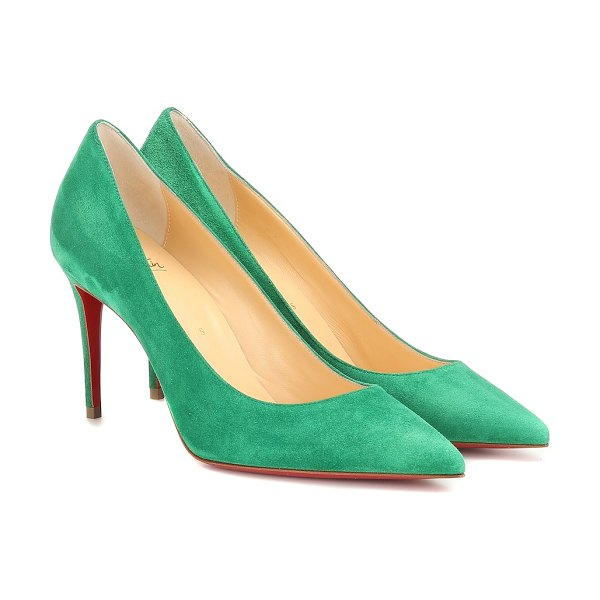 Christian Louboutin kate 85 suede pumps in green