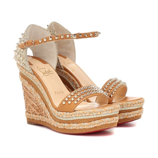 Christian Louboutin madmonica 120 espadrille sandals in brown