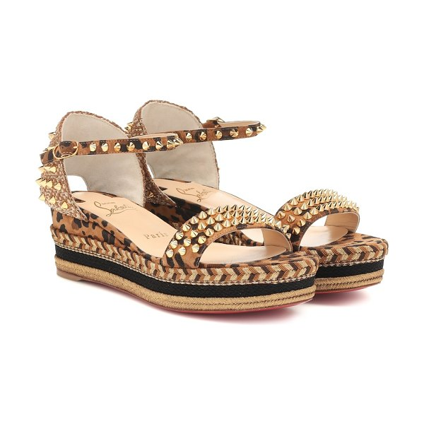 Christian Louboutin madmonica 60 espadrille sandals in multicoloured