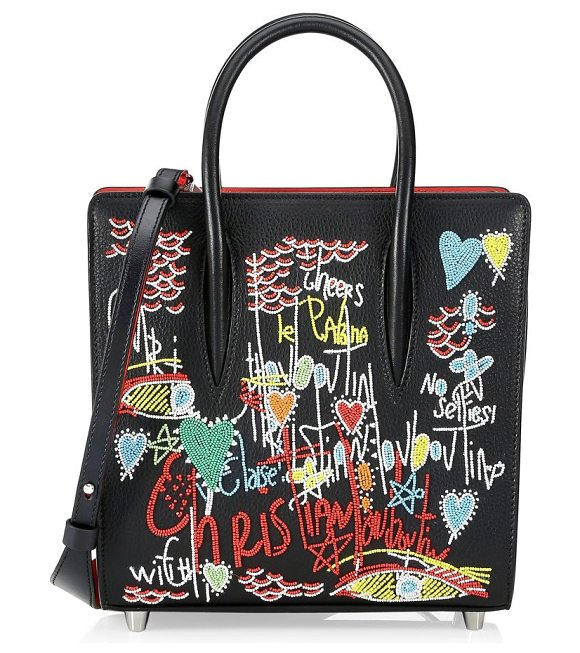 f39ba4e5aa0 Christian Louboutin paloma small embellished tote in black - Playful  embellishing adds whimsy to polished tote