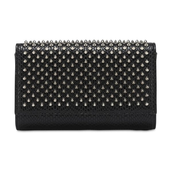 Christian Louboutin Paloma studded leather clutch in black