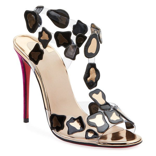 Christian Louboutin Parsemis Red Sole Sandals in black