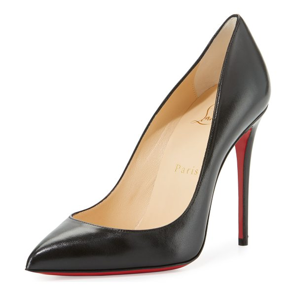 Christian Louboutin Pigalle Follies Leather 100mm Red Sole Pumps in black