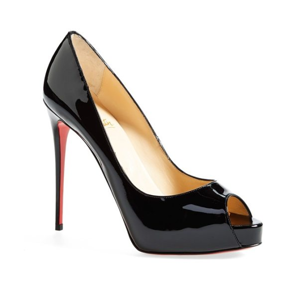 Christian Louboutin prive open toe pump in black