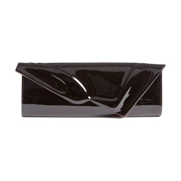 Christian Louboutin so kate patent leather clutch in black