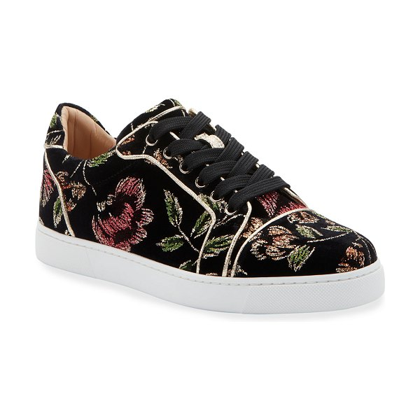 Christian Louboutin Vieira Orlato Red Sole Sneakers in multi pattern