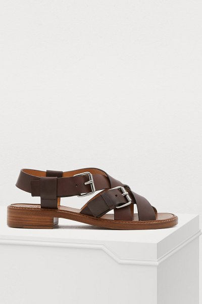 CHURCH'S Bliss sandals in brown - These Bliss sandals exemplify the history of Church's...