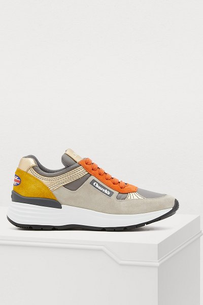 CHURCH'S Leather sneakers in cloud - These leather sneakers combine modern on-trend style...