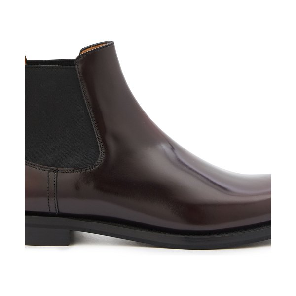 CHURCH'S Monmouth leather ankle boots in burgundy