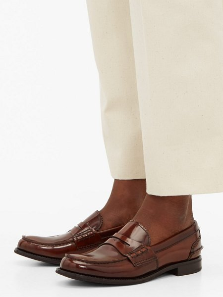 CHURCH'S pembrey leather penny loafers in tan