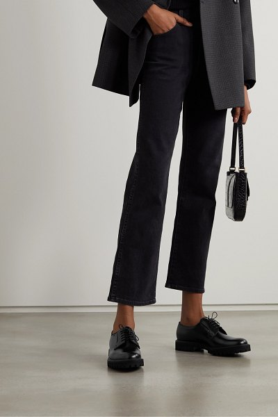 CHURCH'S shannon glossed-leather brogues in black
