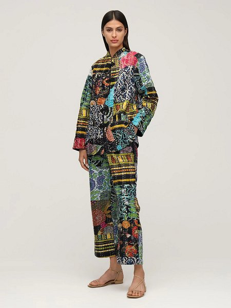 Ciao Lucia Pietro patchwork straight pants in multicolor