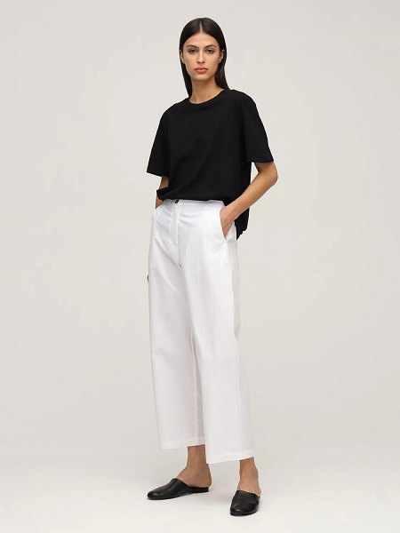 Ciao Lucia Pietro washed cotton chino pants in white