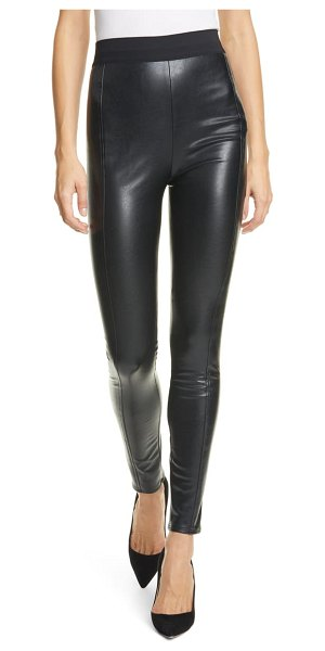 Cinq a Sept alice faux leather pants in black