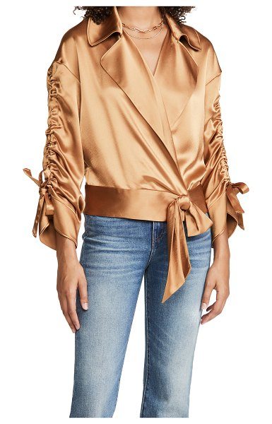 Cinq a Sept cropped aziza jacket in cinnamon