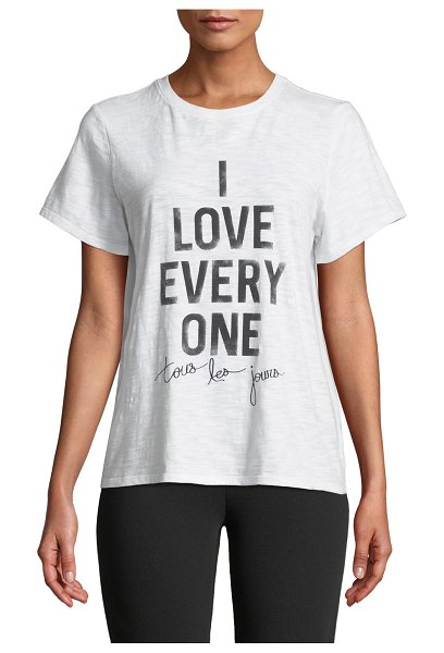 Cinq a Sept Tous Les Jours I Love Everyone Short-Sleeve Graphic Tee in white