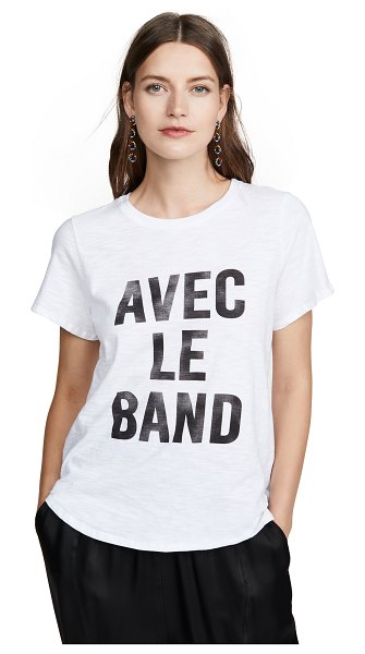 Cinq a Sept tous les jours with the band tee in white/black