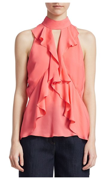 Cinq Sept Ruffle Moma Top in tiger lily