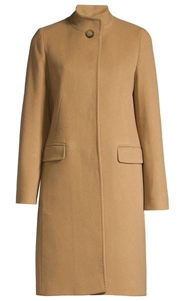 Cinzia Rocca icon wool & cashmere coat in camel