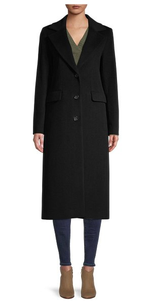 Cinzia Rocca Icons Notch Collar Wool-Blend Coat in black