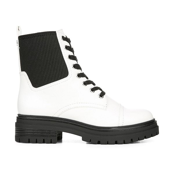Circus by Sam Edelman Giovanny Combat Boots in white