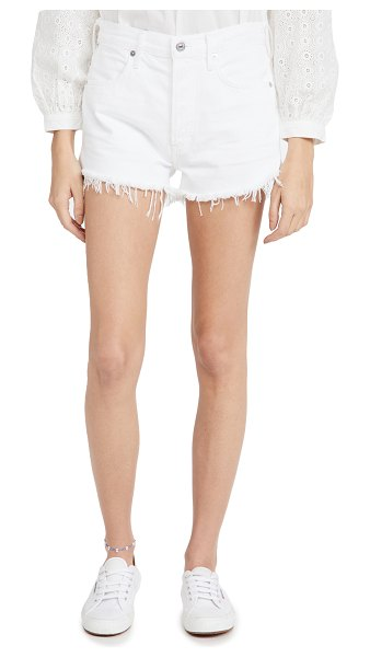 Citizens of Humanity annabelle cutoff shorts in white