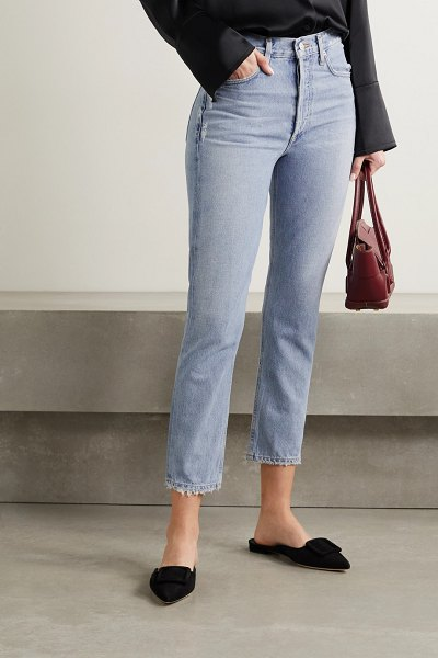 Citizens of Humanity charlotte high-rise straight-leg jeans in light denim